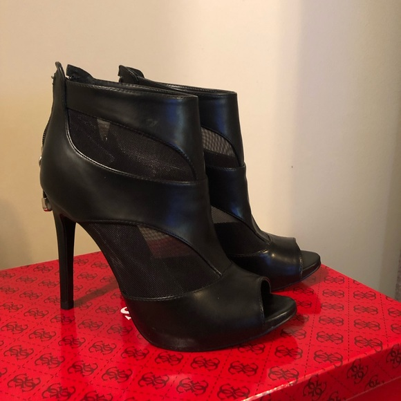 """Guess by Marciano Shoes - 4.25"""" heel open-toe ankle bootie"""